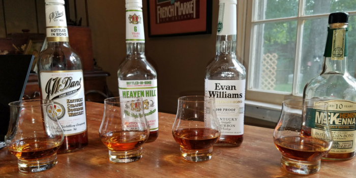 Heaven Hill Bottled in Bond bourbon flight